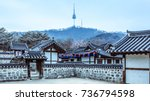 korea old house traditional... | Shutterstock . vector #736794598