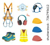 personal protective equipment... | Shutterstock .eps vector #736795612