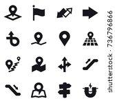 16 vector icon set   pointer ... | Shutterstock .eps vector #736796866