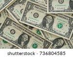 one dollar bill on dollar money ... | Shutterstock . vector #736804585