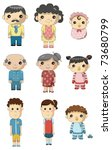 cartoon family icon | Shutterstock .eps vector #73680799