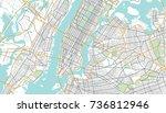 new york city map. vector... | Shutterstock .eps vector #736812946