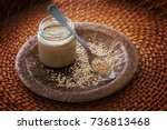 Jar Of Homemade Tahini With...