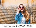 close up posrtait of... | Shutterstock . vector #736816396
