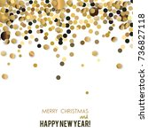 merry christmas  greeting... | Shutterstock .eps vector #736827118