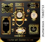 golden labels and design...   Shutterstock .eps vector #73682713