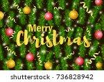 merry christmas poster  banner. ...   Shutterstock .eps vector #736828942