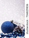 christmas composition of... | Shutterstock . vector #736829836