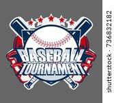 baseball badge logo design ... | Shutterstock .eps vector #736832182