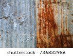 Old Rust Zinc Sheet Background...