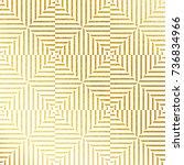 vector geometric gold... | Shutterstock .eps vector #736834966