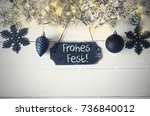 black christmas plate with...   Shutterstock . vector #736840012