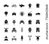 transportation icon set in flat ... | Shutterstock .eps vector #736842868