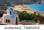 photo from famous beach of...   Shutterstock . vector #736842922
