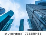 low angle view of skyscrapers...   Shutterstock . vector #736855456