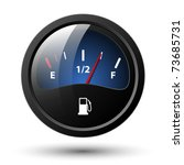 Fuel Gauge Icon. Vector...