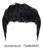 trendy stylish man hairs black... | Shutterstock .eps vector #736864042