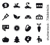 16 vector icon set   money... | Shutterstock .eps vector #736864636