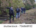Small photo of An environmental activist shows journalists Lybid river polluted by industrial sewage. October 12, 2017. Lybid river, Borshchagivska street, 10. Kyiv, Ukraine.