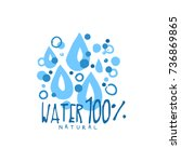 hand drawn signs of pure water... | Shutterstock .eps vector #736869865