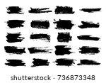 brush watercolor or horizontal  ... | Shutterstock .eps vector #736873348