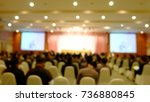 blur conference and  meeting in ... | Shutterstock . vector #736880845