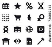 16 vector icon set   calendar ...
