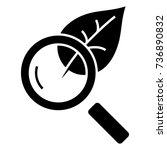 magnifier glass with leaf  ... | Shutterstock .eps vector #736890832
