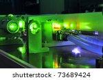 bright green laser light going... | Shutterstock . vector #73689424