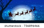 christmas and new year. santa... | Shutterstock .eps vector #736896466