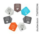 vector circle arrows... | Shutterstock .eps vector #736900246