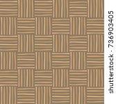 wicker seamless pattern.... | Shutterstock .eps vector #736903405