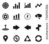 16 vector icon set   target ... | Shutterstock .eps vector #736904386