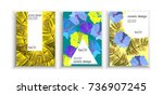 poster covers set with modern...   Shutterstock .eps vector #736907245