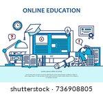medical care concept in modern... | Shutterstock .eps vector #736908805
