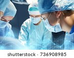 surgery  medicine and people... | Shutterstock . vector #736908985
