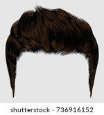trendy stylish man hairs brown... | Shutterstock .eps vector #736916152