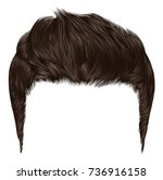 trendy stylish man hairs brown... | Shutterstock .eps vector #736916158