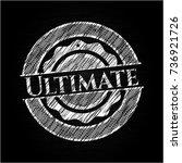 ultimate written on a chalkboard | Shutterstock .eps vector #736921726
