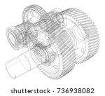 gearbox sketch. vector...   Shutterstock .eps vector #736938082
