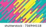 minimal abstract colorful... | Shutterstock .eps vector #736944118