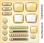 cartoon buttons  icons and...