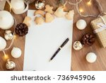 letter to santa claus. gift.... | Shutterstock . vector #736945906