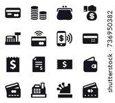 16 vector icon set   card  coin ...