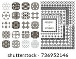 collection of 20 black... | Shutterstock .eps vector #736952146