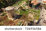 aerial birds eye view photo...   Shutterstock . vector #736956586