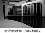 abstract dynamic interior with... | Shutterstock . vector #736958092