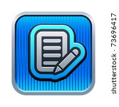 vector illustration of note icon