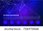 abstract network background.... | Shutterstock .eps vector #736970068