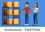 check order and stock concept.... | Shutterstock .eps vector #736970182